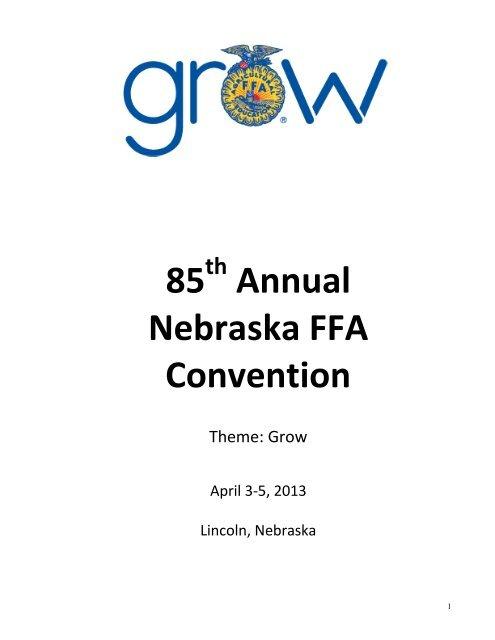 2013 Nebraska FFA Convention Results