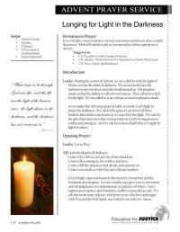 Advent Candle Lighting Readings - World Vision Canada