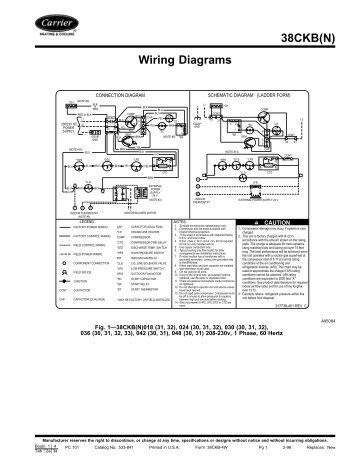 38CM Air Conditioning Unit Wiring Diagrams  Carrier