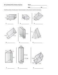 Volume Prism Mathworksheets4kids. Volume. Best Free ...