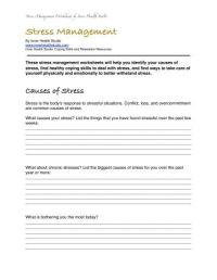 All Worksheets  Stress Management Worksheets - Printable ...