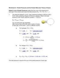 Kinetic Molecular Theory Worksheet Free Worksheets Library ...