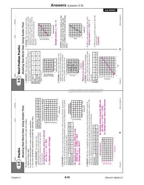 Answers (Lesson 2-5) Copy