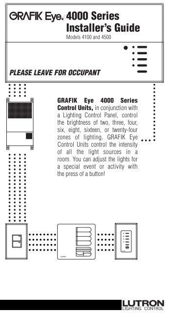 4000 series installer s guide lutron