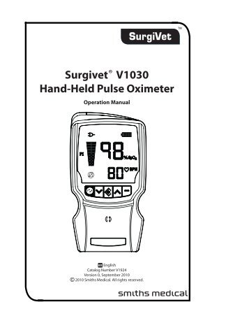 SurgiVet® V3304 Tabletop Pulse Oximeter VETERINARY