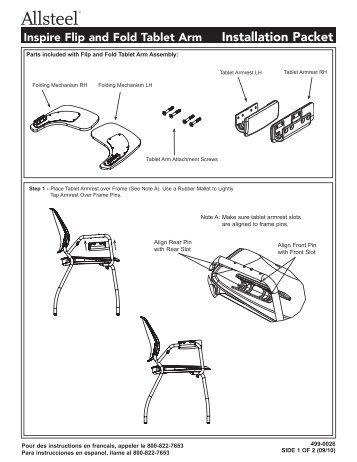 allsteel relate chair instructions revolving in surat inspire tablet arm eds 133kb pdf flip and fold installation
