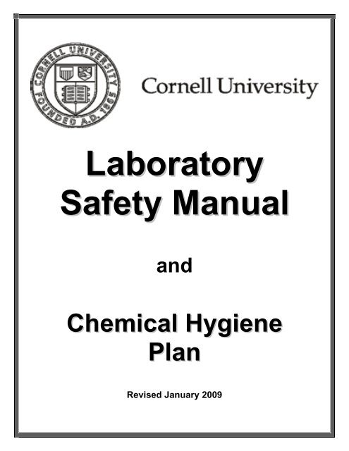 PDF version of the Lab Safety Manual and Chemical Hygiene Plan