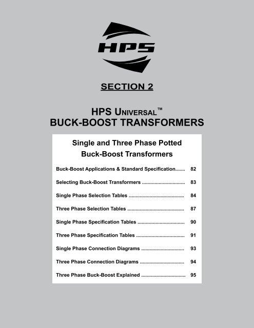 section 2 buckboost transformers  hammond power solutions