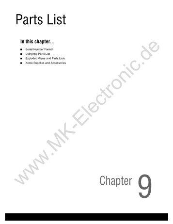 POWER-VEE PARTS LIST