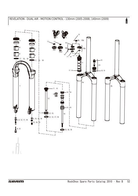 RockShox Spare Parts Catalog 2010 Ì' Rev B 52 REVELATION