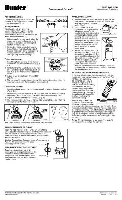 How To Adjust Hunter Sprinkler Heads Distance