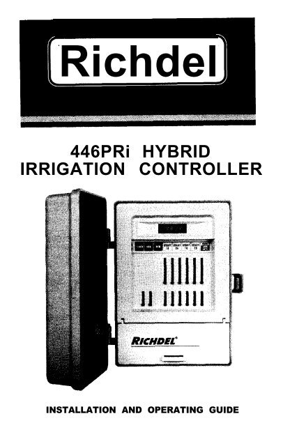 richdel sprinkler valve diagram wiring for push button start vivresaville lawn genie 446pri controller owner s irrigation direct