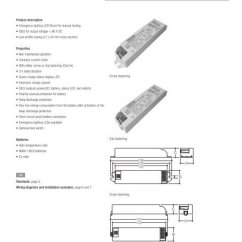 Tridonic Emergency Ballast Wiring Diagram Pre Lit Christmas Tree Em Powerled Nm Basic 1 W