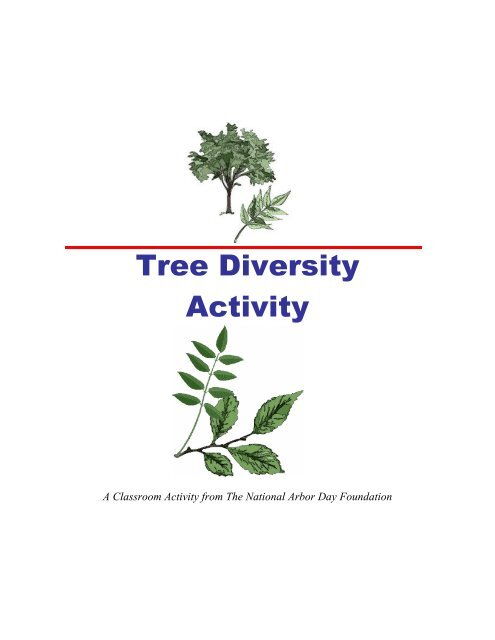 Tree Diversity Activity Arbor Day Foundation