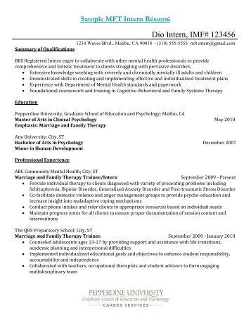 Sample cover letter for mft internship gamerfront. Net.