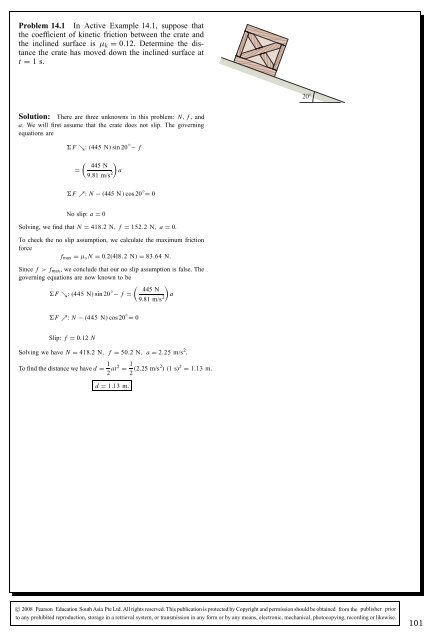 Problem 14.1 In Active Example 14.1, suppose that