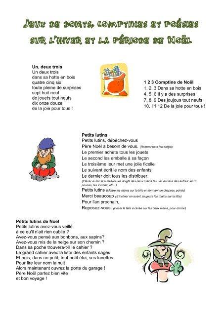 Comptine De Noel Pour Tout Petit : comptine, petit, Doigts,, Comptines, Poésies, L'hiver, Période, Noël