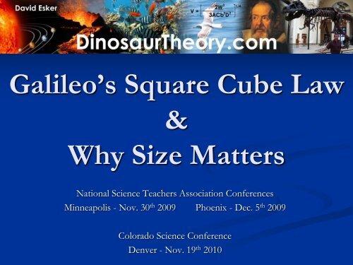 galileo s square cube