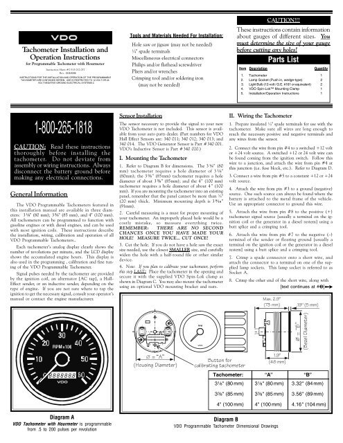 vdo tachometer with hour meter wiring diagram paramecium blank programmable tach hourmeter instruments and