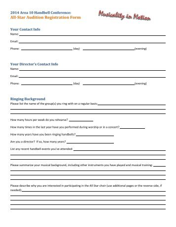 Audition Registration Form Template Asian Food Near Me