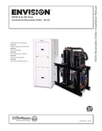 NK W R e v ersible Chiller Installation Manual