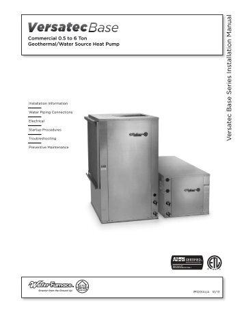 NX W R e v ersible Chiller Installation Manual