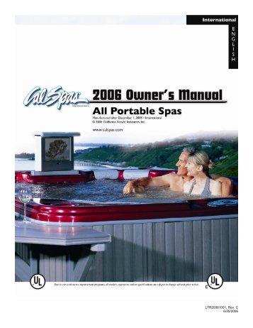 cal spa whisper power unit wiring diagram club car golf cart lights at its best spas international portable manual english