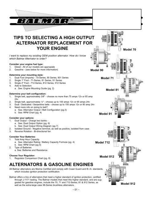 Dual Alternator Wiring Diagram : alternator, wiring, diagram, Helpful, Alternator-Regulator, Guide, Marine, Warehouse