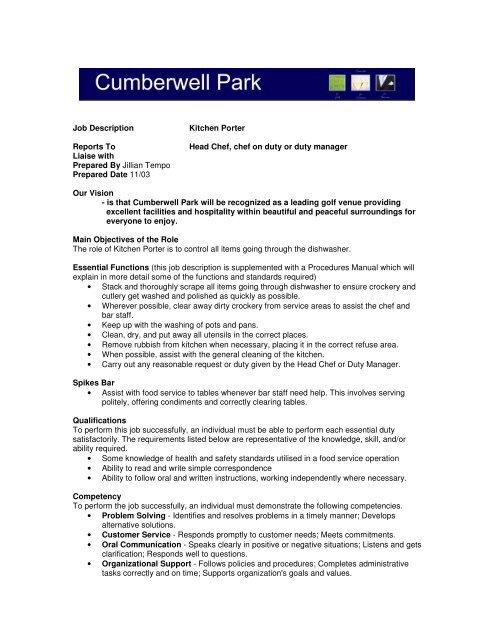 General Manager Job Description Free Template Best Format Profile