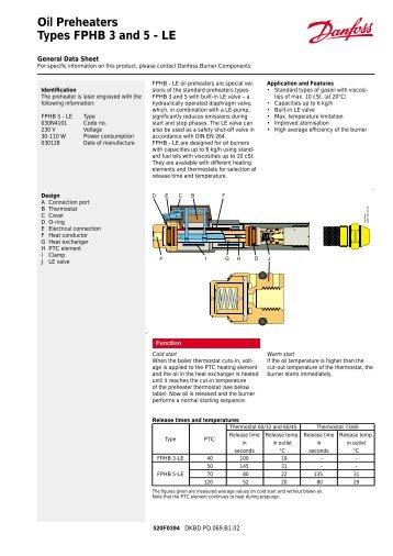 danfoss 3 port valve wiring diagram 92 club car oil preheaters types fphb and 5 le herrmann