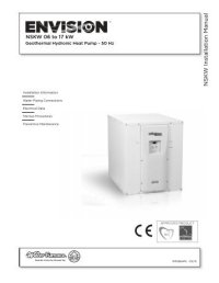 NX W R e v ersible Chiller Installation Manual