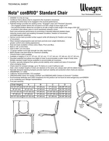 wenger orchestra chair outdoor party chairs tourmaster 3 step riser assembly instructions corporation technical sheet