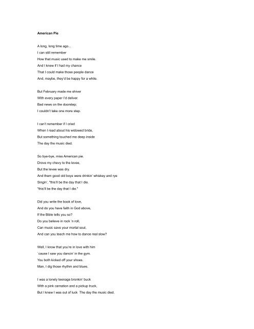 There's A Roof Up Above Me Lyrics : there's, above, lyrics, Final, Lyrics