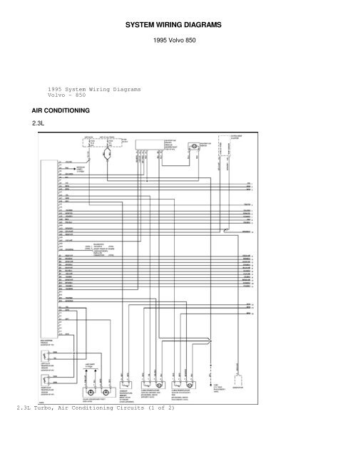 Volvo 850 T5r Wiring Diagram