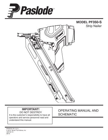 Paslode Framing Nailer Cleaning Manual | Siteframes.co