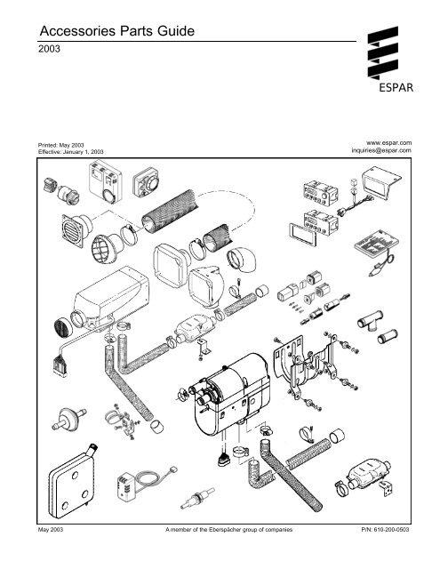 ESPAR Fuel Fired Heater Controls, Accessories (PDF