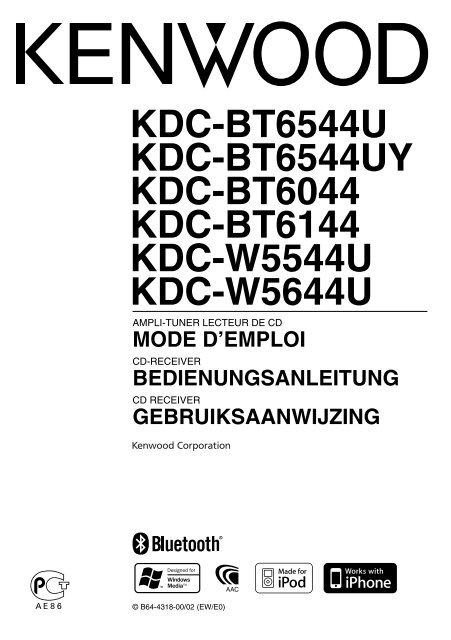 Bedienungsanleitung Kenwood Kdc Bt51u