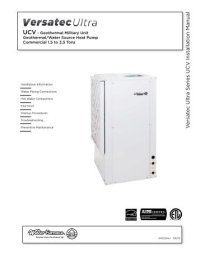 NX W R e v ersible Chiller Installation Manual - WaterFurnace