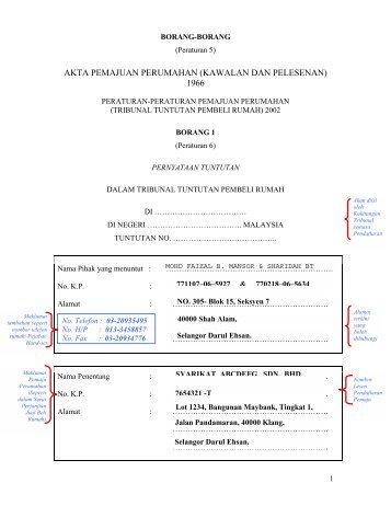 Contoh Mengisi Borang 1 Cuitan Dokter
