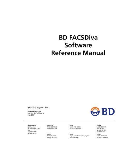 BD FACSDiva Software Reference Manual
