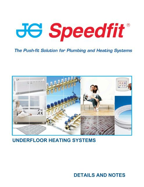 underfloor heating systems details and notes