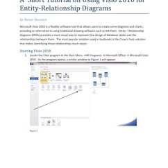 2010 Visio Er Diagram 2001 Ford Focus Ignition Wiring A Short Tutorial On Using For Entity Relationship Diagrams