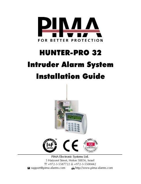 HUNTER-PRO 32 Intruder Alarm System Installation Guide