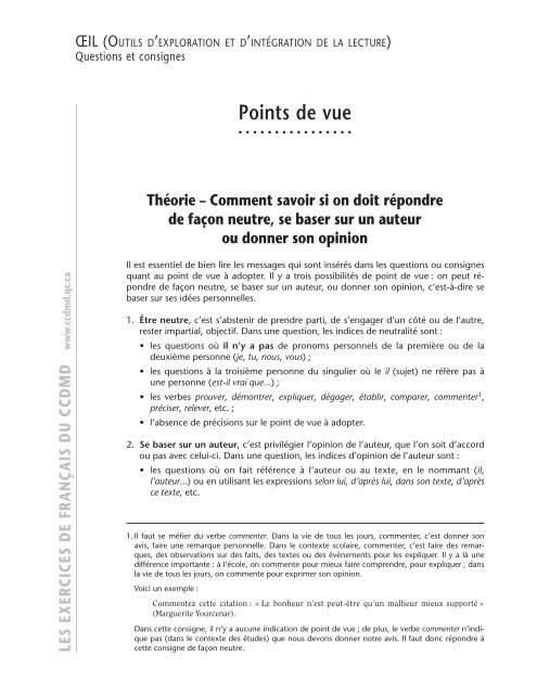 Point de vue — Wikipédia