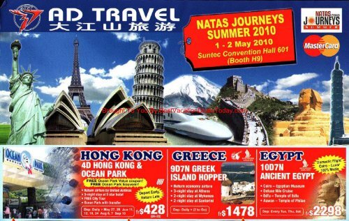 Ad Travel Brochure Best Vacation Deals Today