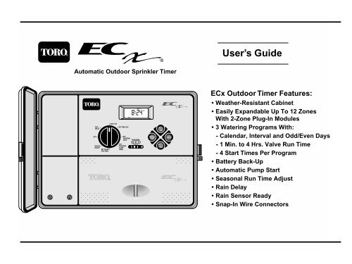 Toro EC-X Outdoor Automatic Sprinkler Timer