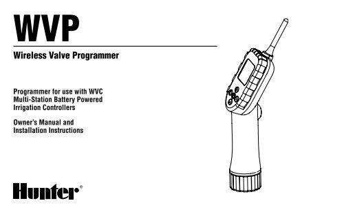 Hunter WVP Wireless Valve Programmer Owner's