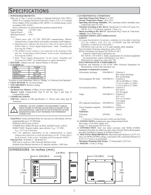 SPECIFICATIONS 1. POWER R