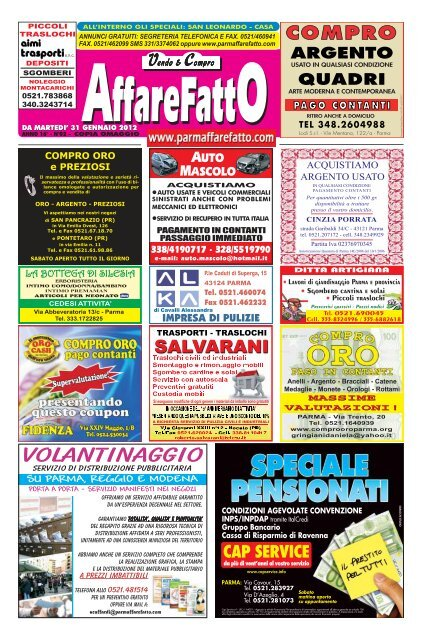 Volantinaggio Affare Fatto Parma