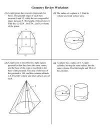 Geometry Final Exam Review Worksheet